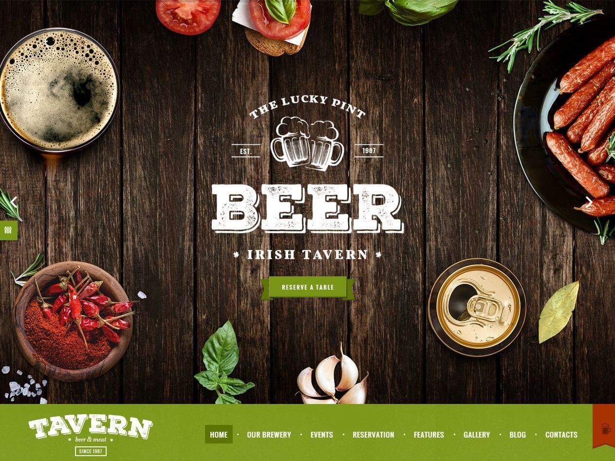 FireShot Screen Capture #179 - 'The Lucky Pint – Irish tavern I Irish Tavern – pub Theme' - tavern_axiomthemes_com