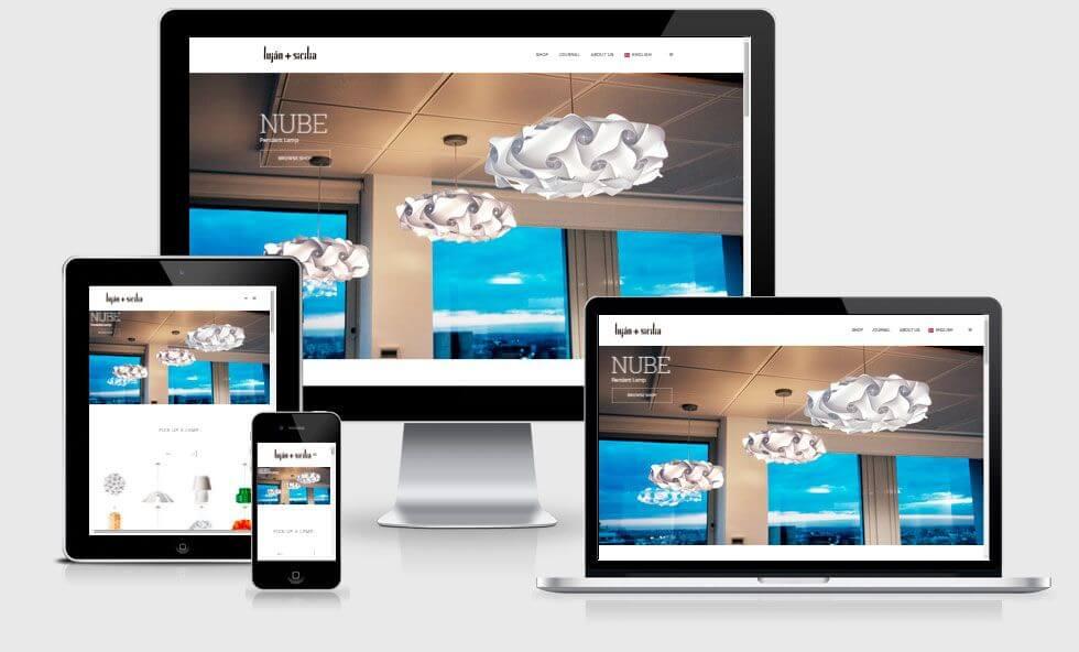 Diseño de tienda online para empresa de iluminación de Madrid