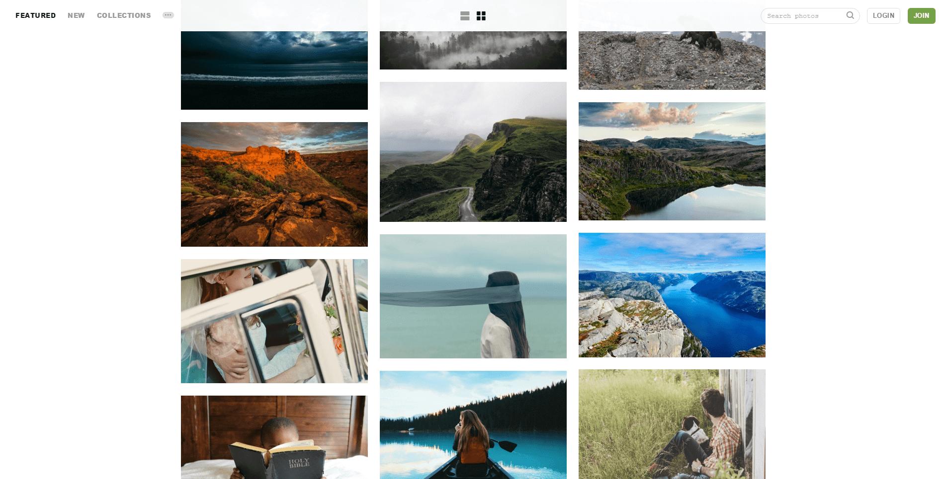 'Unsplash I High-Resolution Photos' - unsplash_com