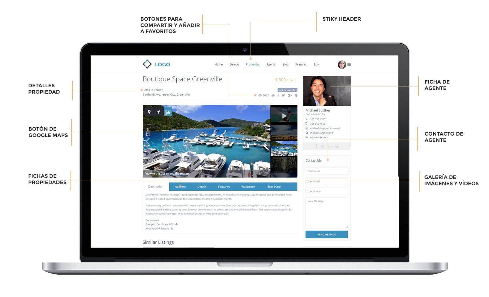 Desarrollo web para inmobiliarias.