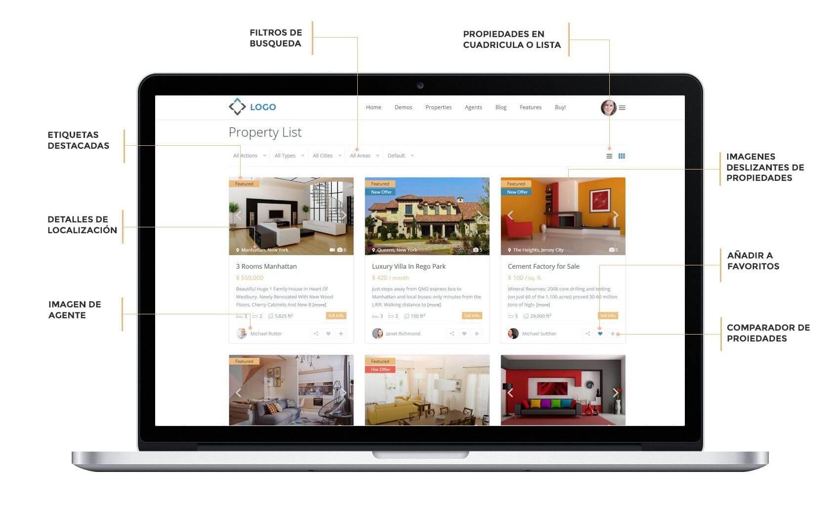pagina web de inmobiliaria